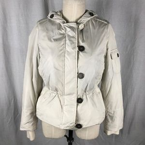 Burberry Small White Duck Down Hooded Parka